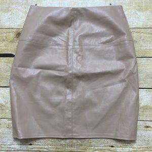 Missguided vegan leather skirt